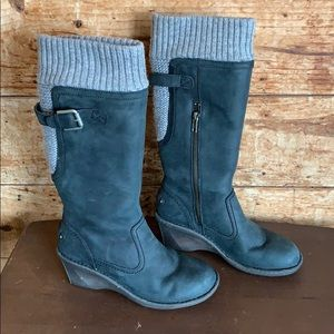 UGG skyfall knit wedge sweater boots